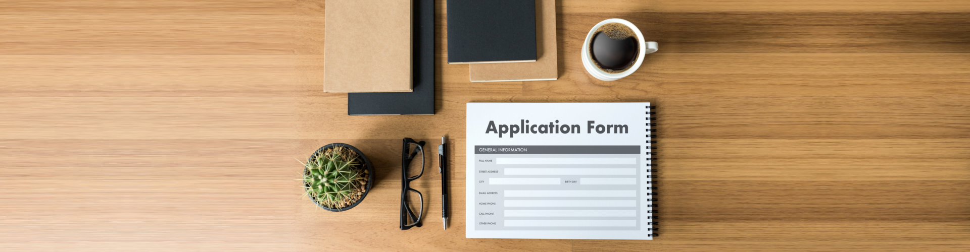 Application Form on the table